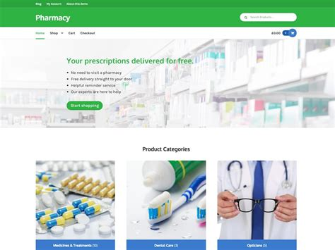 themes storefront pharmacy a storefront child theme for healthcare