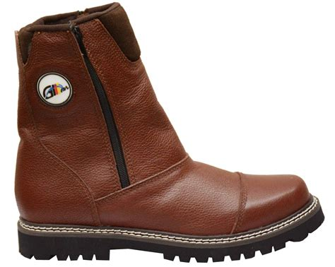 Cowhide Leather Shoes - boots shoes with zipper made of genuine cowhide leather