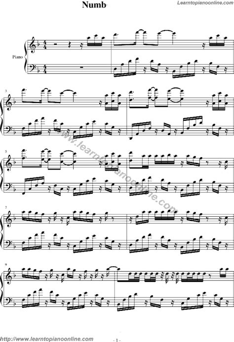 testo numb linkin park numb by linkin park piano sheet free