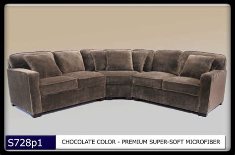 Microfiber Sectional Sofa Set 3 Pc Modern Chocolate Microfiber Sectional Sofa Set Living Room Set Tbqs728p1