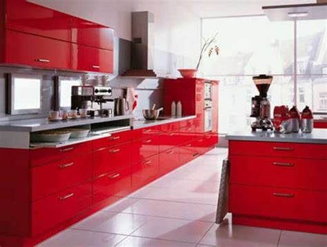red kitchen furniture red and white kitchen decor kitchen decor design ideas