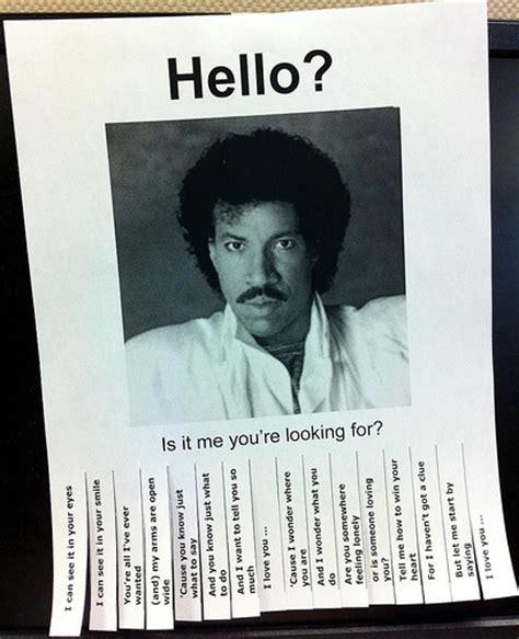 Lionel Richie Hello Meme - hello lionel spreading some 80 s style love improv az