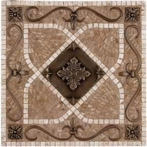 metal mural renaissance mosaic tile backsplash