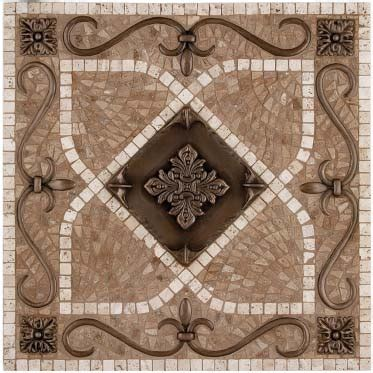 kitchen backsplash metal medallions metal mural renaissance mosaic tile backsplash