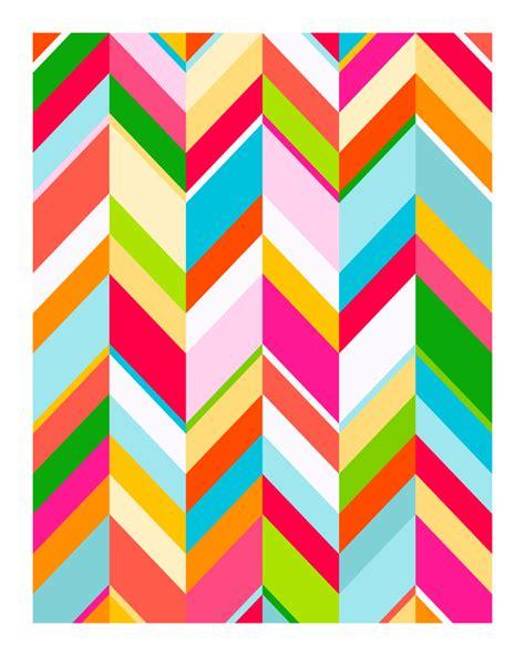 colorful chevron wallpaper chevron pop original art print colorful patterned print