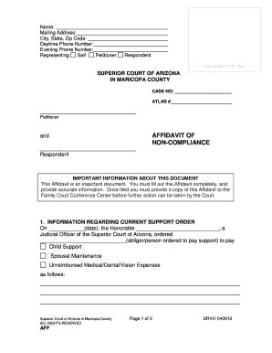 Free Maricopa County Warrant Search General Affidavit Form Pdf Templates Fillable