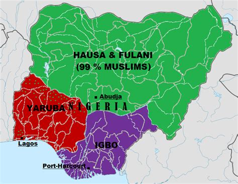 map of ethnic groups in nigeria as it revolves from 1901 2015 politics nigeria