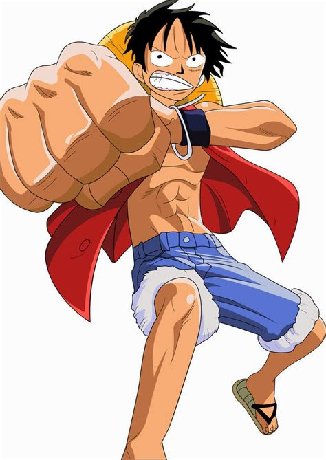 Kaos Anime Series Luffy 01 one charecter monkey d luffy anime