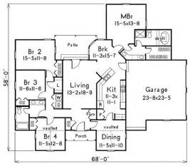 Modern 4 Bedroom House Plans Small House Plans Modern 4 Bedroom House Plans With Garage