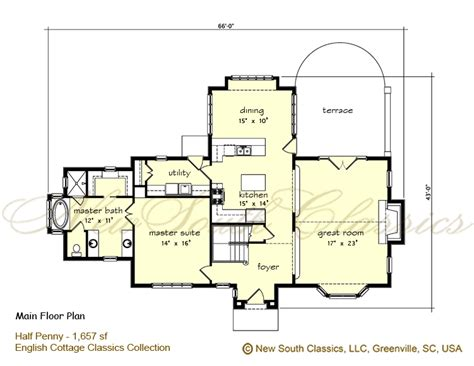 One And A Half Story Floor Plans New South Classics Half Penny Cottage