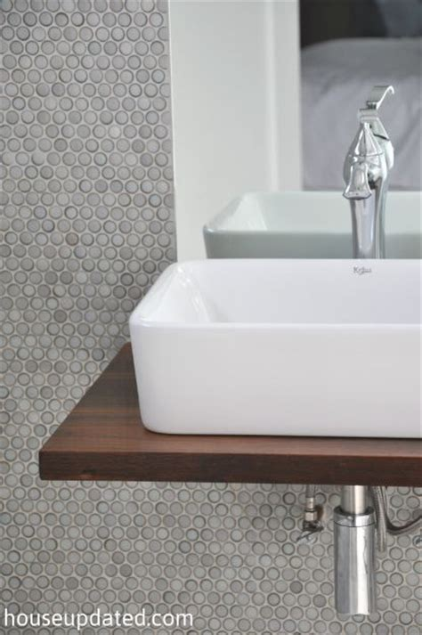 Floating Sinks by Walnut Floating Shelf Sink Vanity With Vessel Sink