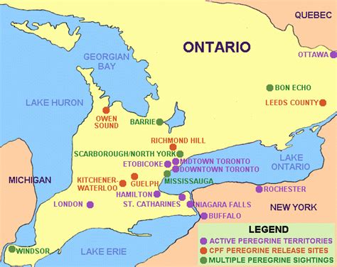map of ontario canada showing cities construction inspections in ontario