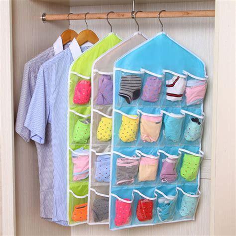 16 pockets hanging door wall mounted clothing closet