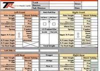 Race Car Setup Sheet Template by Race Setup Asphalt Troyer Race Cars