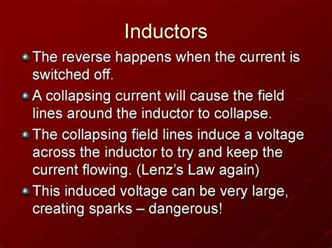 what will happen when an inductor s magnetic field collapses inductors презентация онлайн