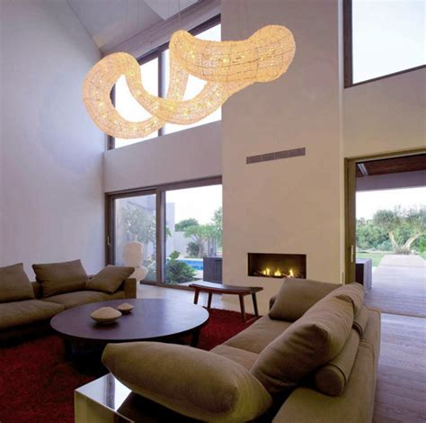 Living Room Pendant Lights Dramatic Pendant Light Effect Living Room Interior