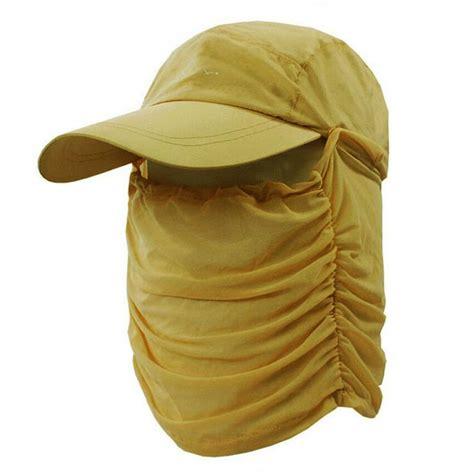 Anti Uv Sun Hat anti uv sun hat with cover yellow