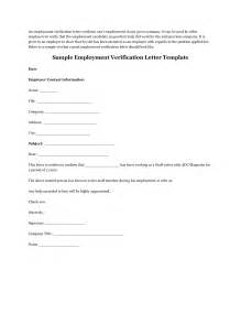 Verification Of Employment Sle Letter by Sle Employment Verification Letter From Previous Employer Cover Letter Templates