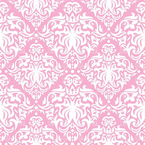 pink pattern free vector pink and white vintage seamless pattern royalty free