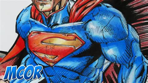 color drawings dibujando a superman acuarela colores y marcador