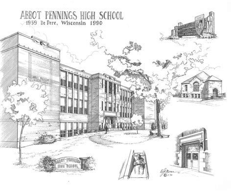 Sketches School by 1990 Abbot Pennings High School Sketch By Bj Abbot
