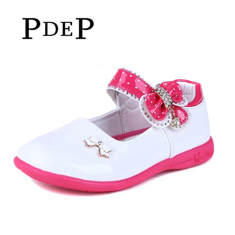 pdep pretty platform white pu leather shoes flower