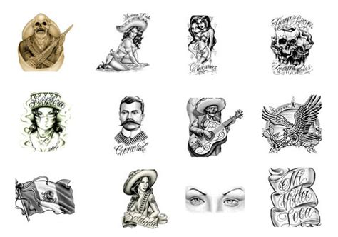 hispanic tattoo designs mexican gangster designs