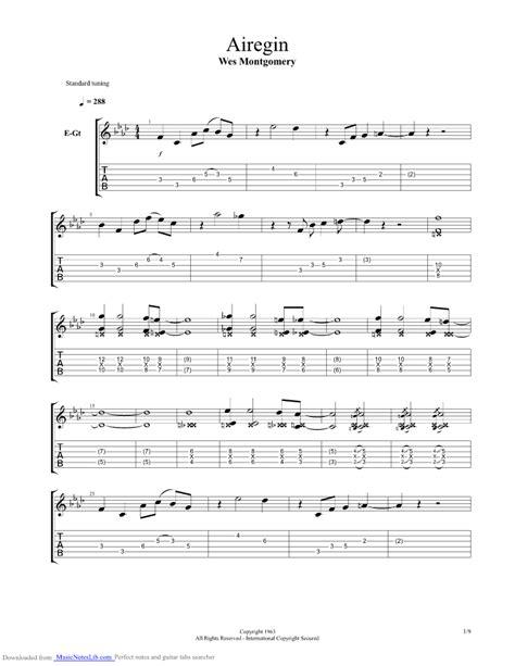 Wes Montgomery Round Midnight Guitar Pro Download