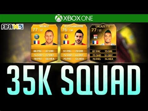 fifa 14 ultimate team overpowered 35k ligue one squad