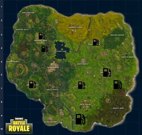 fortnite gas stations fortnite all gas station locations vg247