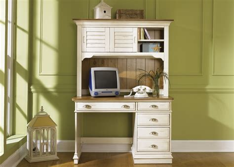 ocean isle bisque and natural pine file ocean isle youth desk and hutch in bisque with natural