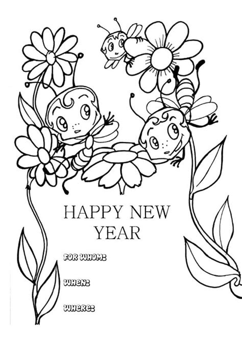 new year animal colouring pictures new year cards with animal coloring page new year