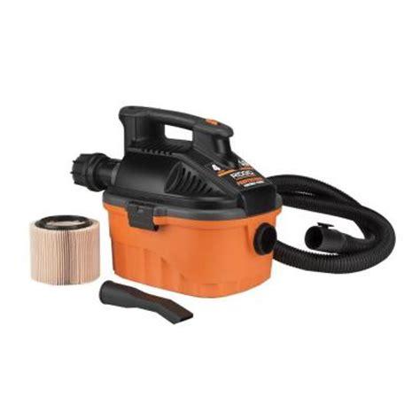 ridgid wd4050 4 gallon portable pro vacuum from home depot
