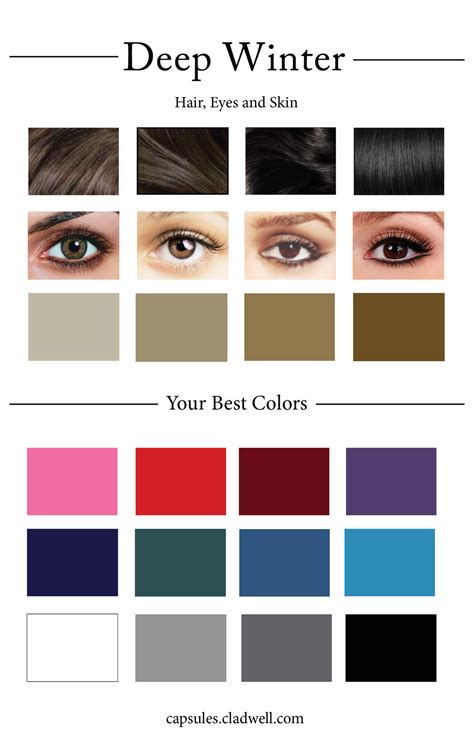 best hair color for deep winters how to create your personal color palette plus take our