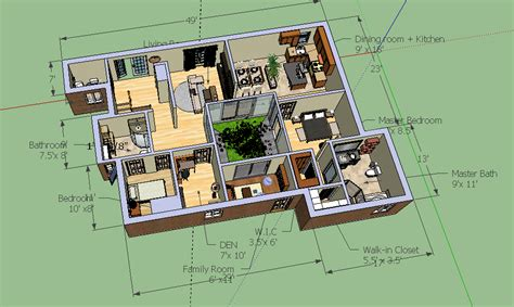 Sketchup House Plans Sketchup Bungalow Model Bungalow Layout Cloud Atlas