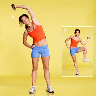 standing oblique crunch a workout for flat abs in 4 simple health