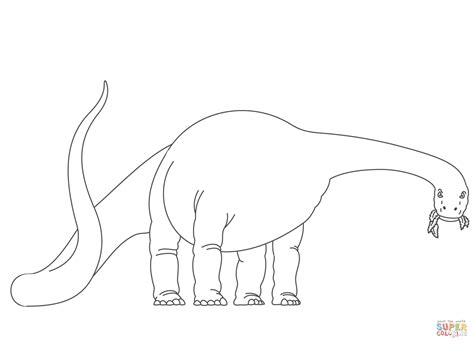 diplodocus coloring page coloring home
