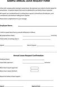 Request Letter Sle For Annual Leave Sle Annual Leave Request Form For Free Tidyform