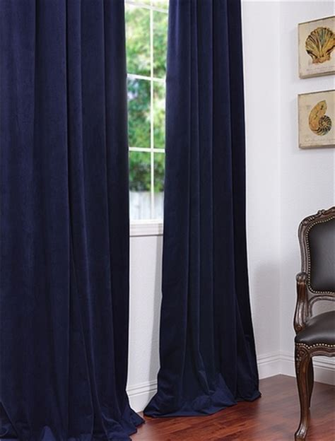 Navy Velvet Curtains Navy Blue Velvet Drapes Decor Ideas