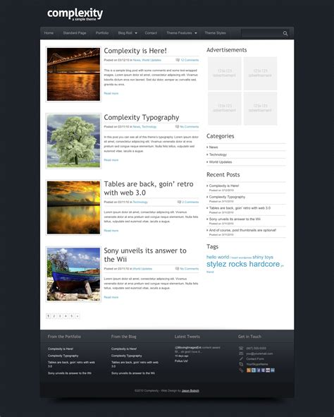 wordpress blog page template beepmunk