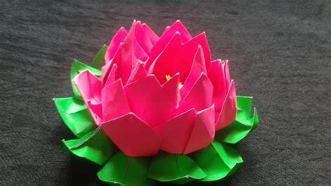 How To Make A Lotus Flower Origami - how to make an origami lotus flower bearsvsgiants