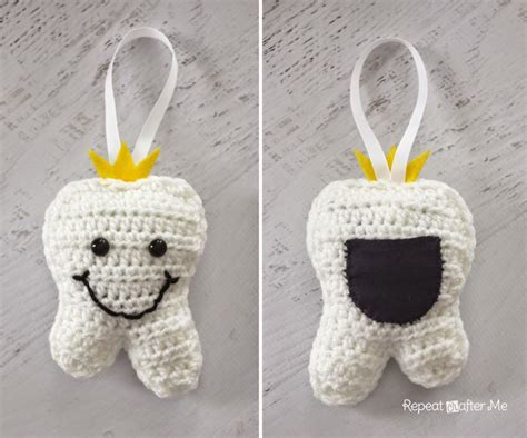 crochet tooth fairy pillow repeat crafter me