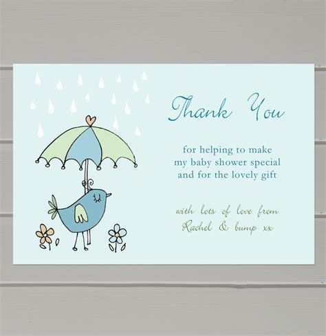 personalised baby shower thank you cards by molly moo