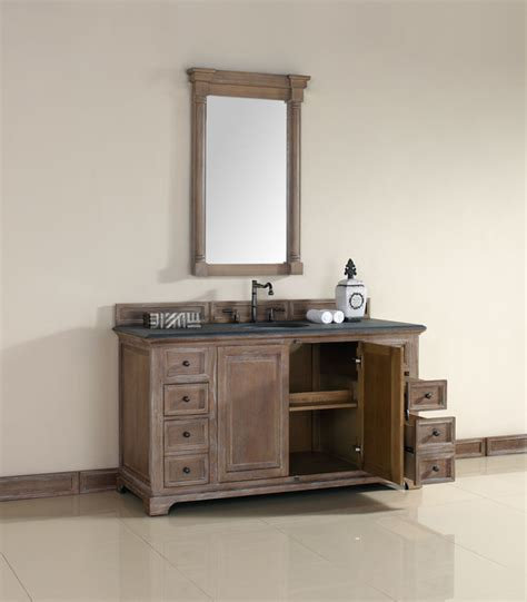 60 Inch Providence Driftwood Grey Single Sink Vanity 60 Inch Single Sink Bathroom Vanity