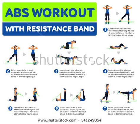 exercises flat stomach firm buttocks fitness stock vector 473299102