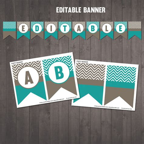 Printable Editable Banner | printable editable chevron banner happy birthday welcome