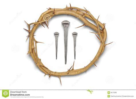 corona de espinas con 3 clavos foto de archivo imagen de