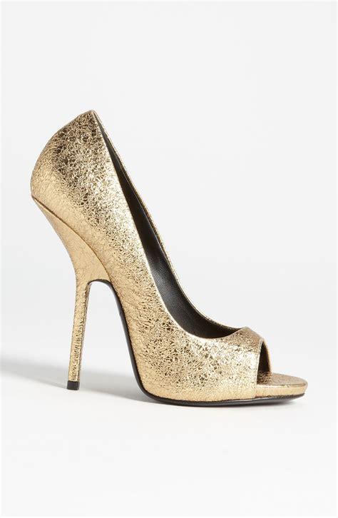 gold peep toe high heels gold peep toes heels is heel