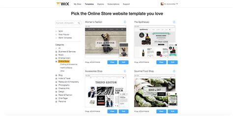wix ecommerce templates wixstores the ecommerce website builder review
