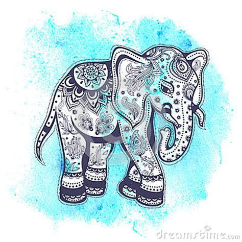 vintage watercolor elephant illustration stock vector image